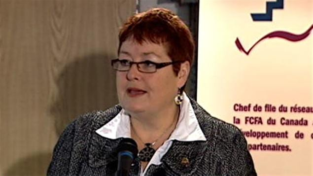 Marie-France Kenny, présidente de la Fédération des communautés francophones et acadienne.