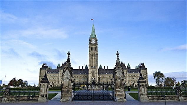 Le parlement du Canada, situé à Ottawa, la capitale nationale, a été construit en 1876.