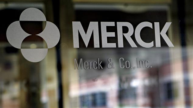 Logo de Merck à son siège social du New Jersey