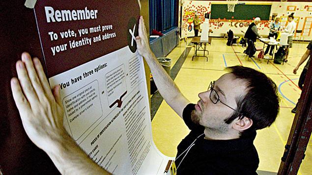bureau de vote à Toronto