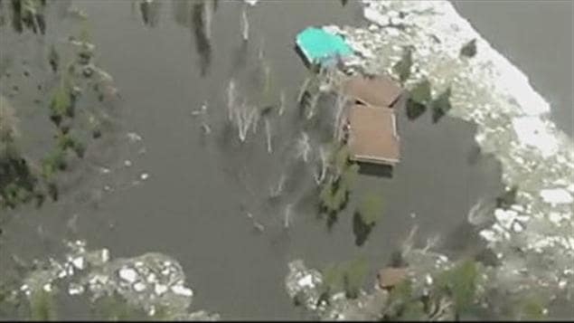 Inondations à Albanel