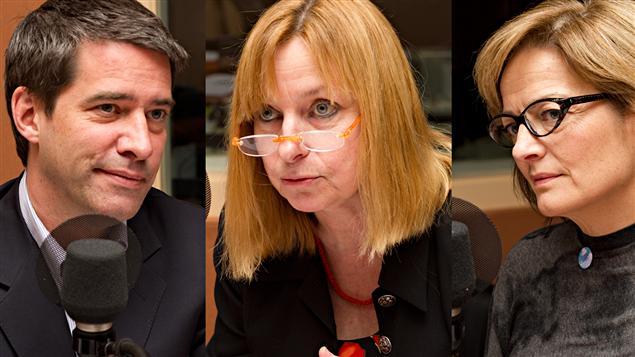 André Boisclair, Marie-France Raynault, et Anne Darche
