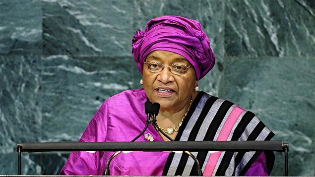 La présidente du Liberia, Ellen Johnson Sirleaf