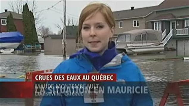 La crue des eaux en Mauricie fait craindre le pire rapporte Maude Montembeault.