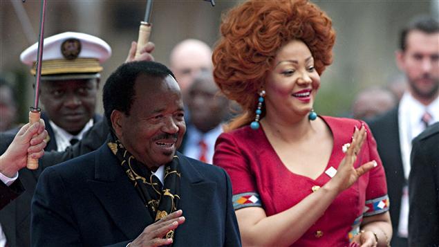 Le président du Cameroun, Paul Biya, et son épouse