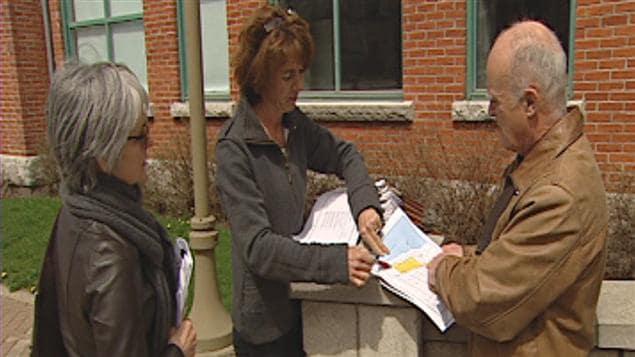 Des citoyens se mobilisent contre le projet de développement Roc Pointe à Lévis.