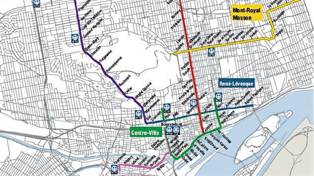 Réseau de tramway suggéré par Projet Montréal