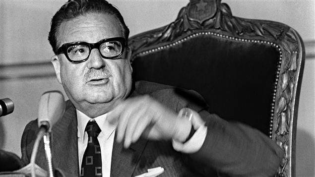 L'ex-président chilien Salvador Allende sur une photo prise en 1970