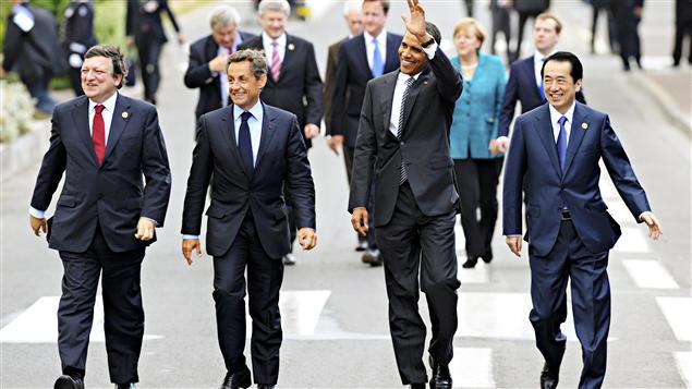 Sommet du G8 à Deauville, en France