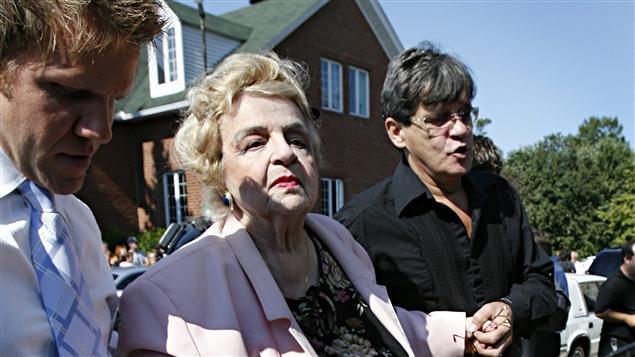 Alys Robi aux funérailles de Claude Blanchard, le 1er septembre 2006
