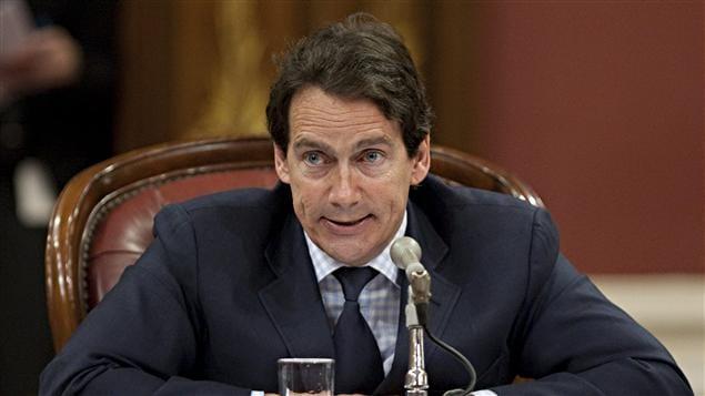 Pierre Karl Péladeau en commission parlementaire à l'Assemblée nationale du Québec
