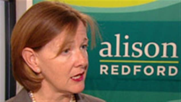 La candidate à la direction du Parti progressiste-conservateur de l'Alberta, Alison Redford.