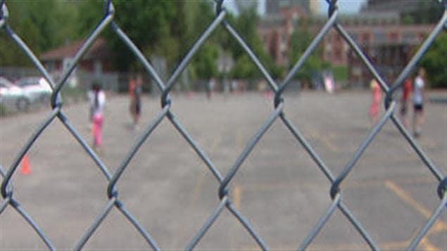 La cour de l'école Eymard de Sherbrooke
