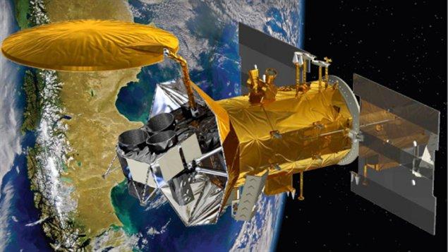 Représentation artistique du satellite Aquarius