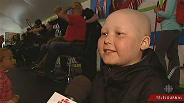 Raphaël Martel, 11 ans, s'est fait raser la tête