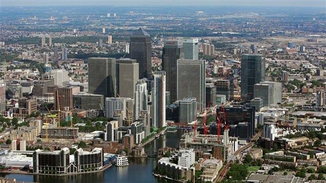 Le quartier des affaires de Londres, au Royaume-Uni