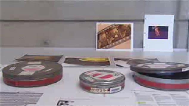 Bobines de vieux films préservés à Bibliothèque et Archives Canada