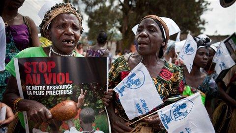 En octobre dernier, 20000femmes ont manifesté à Bukavu, au Sud-Kivu, pour dénoncer le viol.