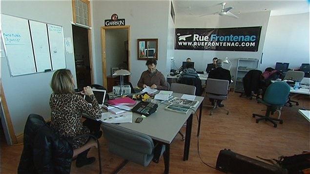 Les anciens locaux du quotidien en ligne RueFrontenac.com