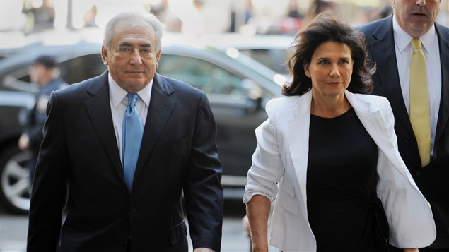 Dominique Strauss-Kahn et son épouse Anne Sinclair