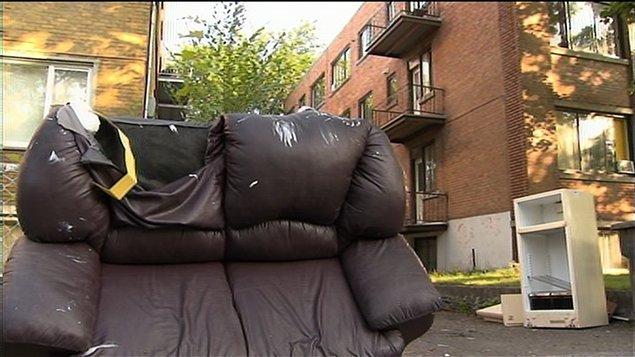 Les rues de Montréal jonchées de déchets