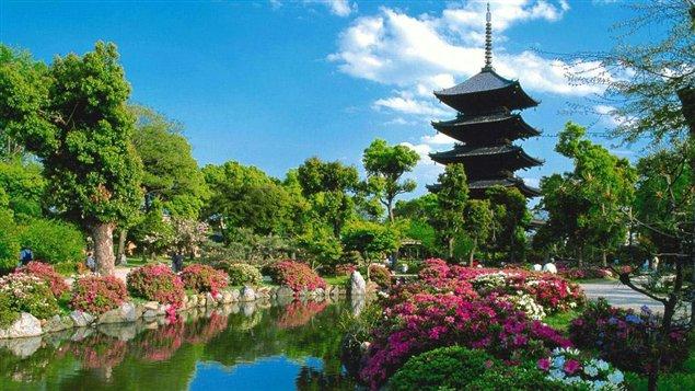 Un temple de Shikoku au Japon