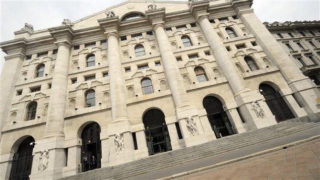 La Bourse de Milan, en Italie.