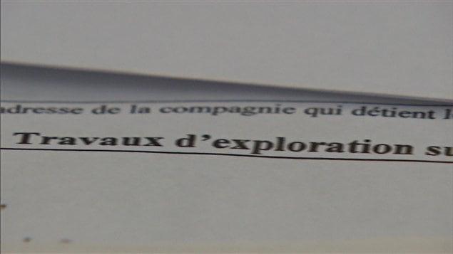 La lettre vise à exprimer l'opposition des signataires au forage de puits de gaz de schiste sur leur terrain.