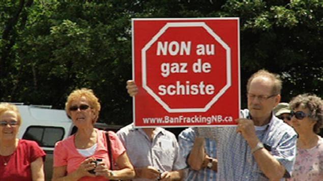 Manifestation contre le gaz de schiste