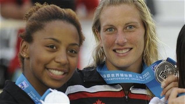 Jennifer Abel et Émilie Heymans