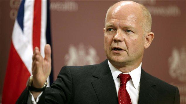 Le ministre britannique des Affaires étrangères, William Hague