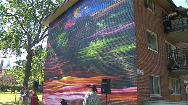 Fresque murale aux habitations Jeanne Mance