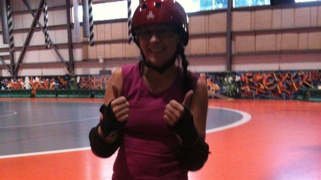 Katy Cloutier et le roller derby