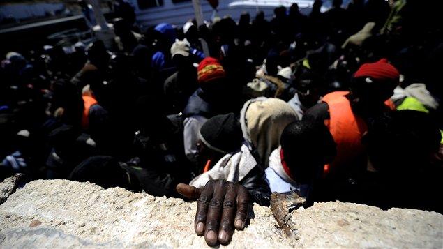 Des réfugiés libyens arrivés à l'île italienne de Lampedusa (Archives)
