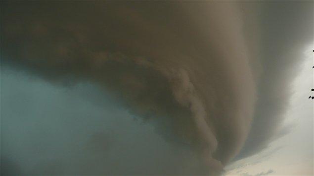 Tempête au nord du lac Saint-Jean