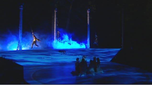 Le spectacle La Tempête de Robert Lepage a attiré les visiteurs cet été à Wendake