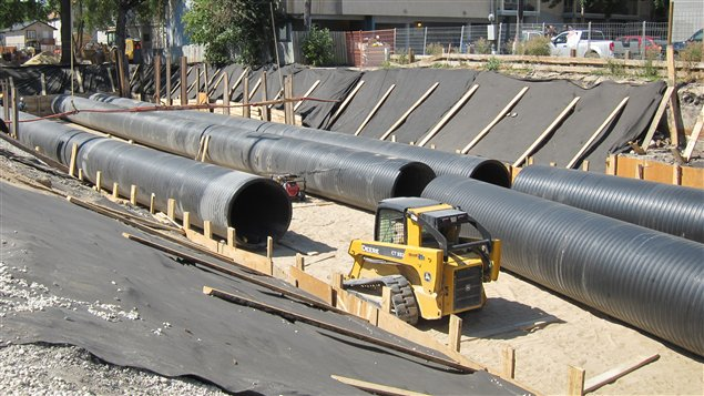 Un projet-pilote de reservoir souterrain aura pour fonction de limiter les dégâts en cas de fortes précipitations.