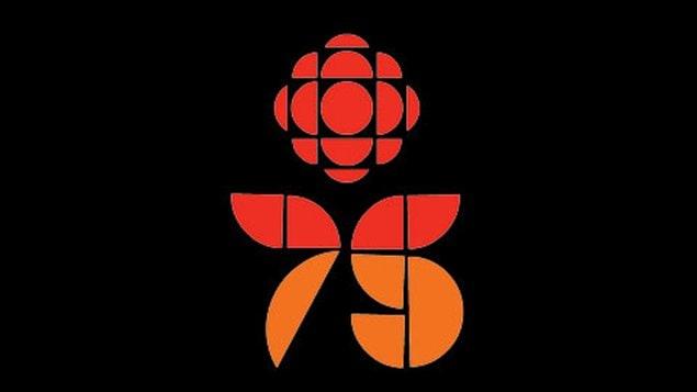 Le logo du 75e anniversaire de Radio-Canada