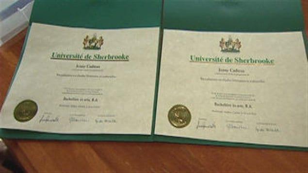 Diplômes de l'Université de Sherbrooke