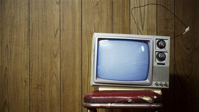 Vieille télévision analogique