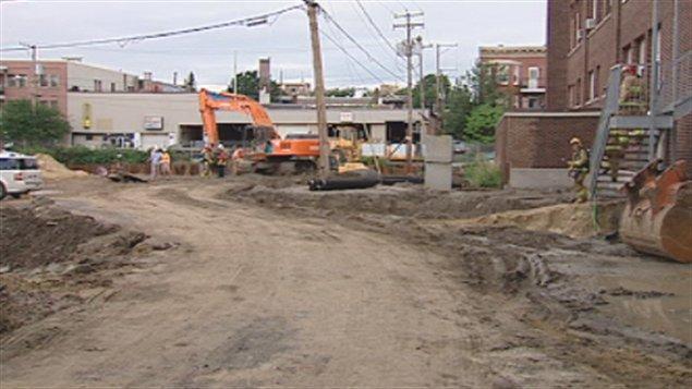 Un incident est survenu sur un chantier de construction de l'arrondissement La Cité-Limoilou