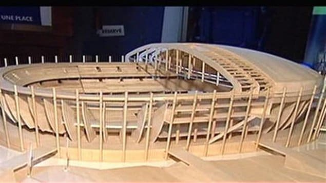 Maquette du projet d'amphithéâtre à Québec