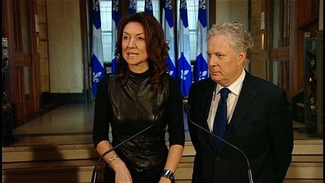 Nathalie Normandeau et le premier ministre du Québec Jean Charest