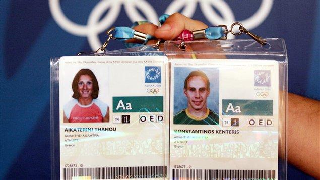 Katerina Thanou et Kostas Kenteris