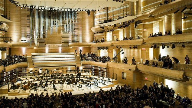 Inauguration de la nouvelle salle de concert  de l'Orchestre symphonique de Montréal, le 7 septembre 2011.