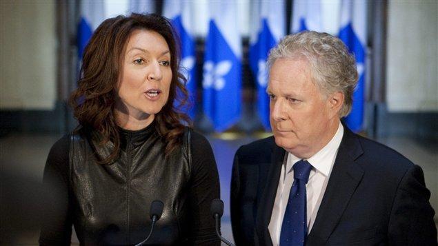 Nathalie Normandeau et le premier ministre du Québec, Jean Charest