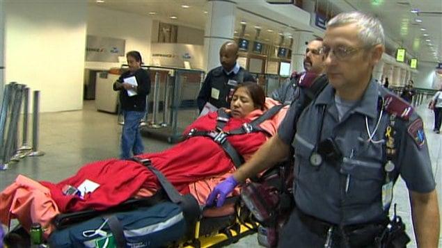 Paola Ortiz transportée à l'hôpital
