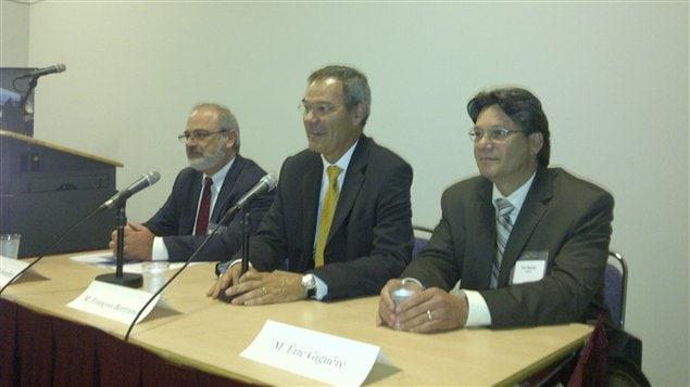 De gauche à droite, Hervé Schembri, François Bertrand et Éric Giguère