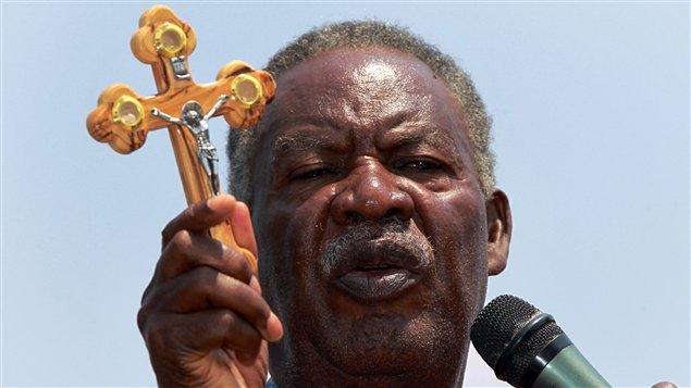 Michael Sata, gagnant annoncé de la présidentielle en Zambie