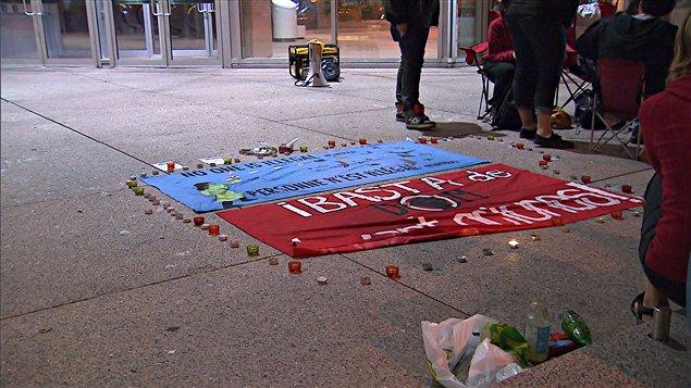 Vigile de solidarité pour Paola Ortiz à Montréal